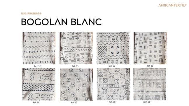 Bogolan Blanc BL32 à BL39 Portfolio