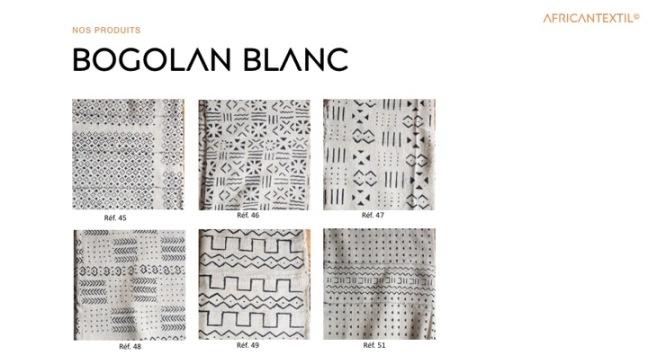 Bogolan Blanc BL45 à BL51 Portfolio