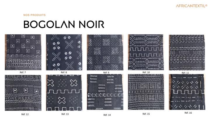 Bogolan noir BN7à BN16 Portfolio
